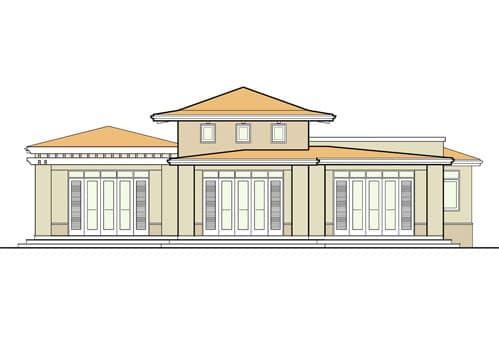 Bahia Beach House V Rear Elevation