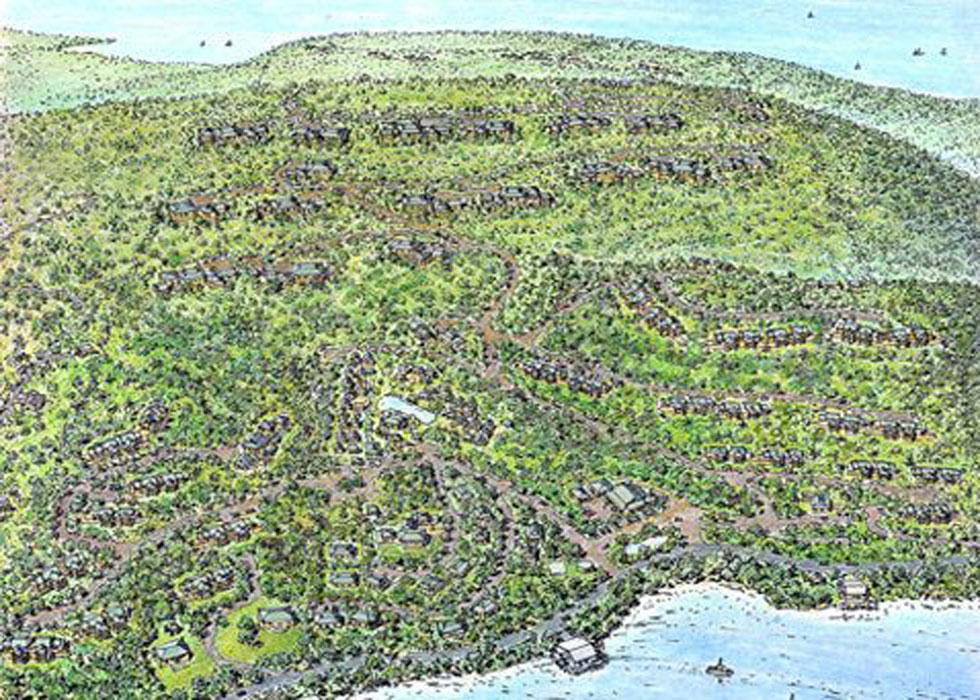 Villa Mi Terruno Aerial Perspective